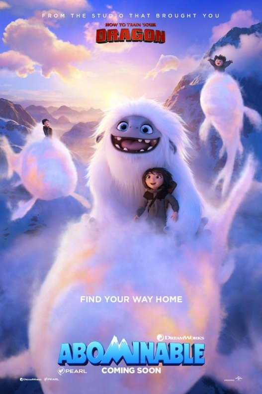 Abominable. Find your way home. From the studio that brought you How to train your dragon.