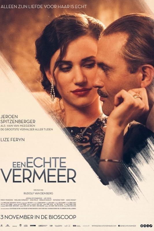 Een Echte Vermeer. Alleen zijn liefde voor haar is echt. Een man en vrouw kijken elkaar liefdevol aan.